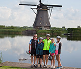 Holland and Belgium family biking photo